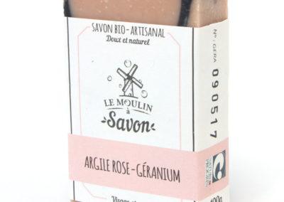 Argile rose-géranium