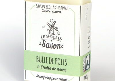 Bulle de poils (savon pour chien)